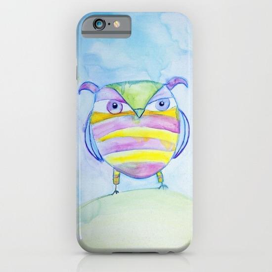 Striped Owl iPhone Case